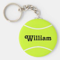 Custom Tennis Player or Team Name Sports Keychain