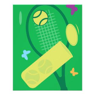 Custom tennis tournament flyers template design
