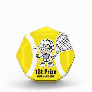 Custom tennis tournament trophies for kids acrylic award
