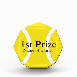 Custom tennis trophy award for tournament winner