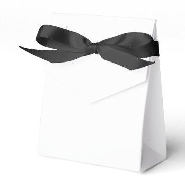 Beach Themed Custom Tent Favor Box (Black Ribbon)