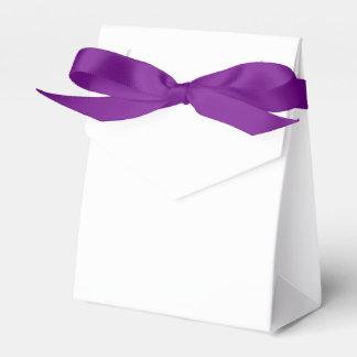 Custom Tent Favor Box (Purple Ribbon)