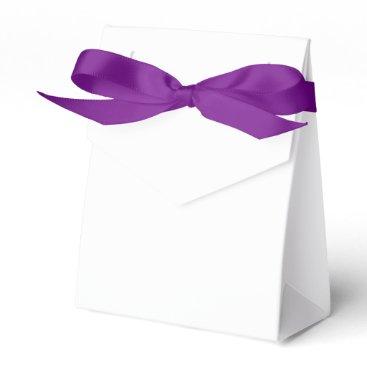 Beach Themed Custom Tent Favor Box (Purple Ribbon)