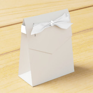 Custom Tent Favor Box (White Ribbon)