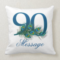 Custom text 90th Birthday Pillow