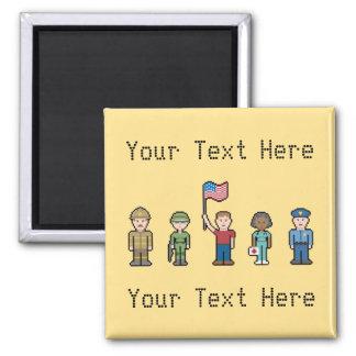 Custom Text American Heroes Magnet