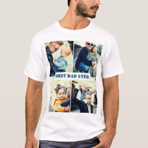 Custom text and picture x4 T-Shirt