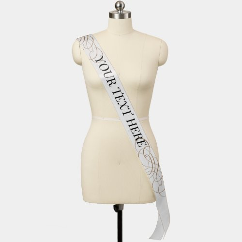 Custom Text and Title Event Parade Pageant Sash