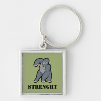Custom Text Angry Gorilla Keychain