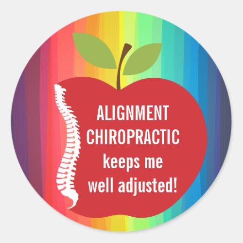 Custom Text (Apple) Chiropractic Stickers