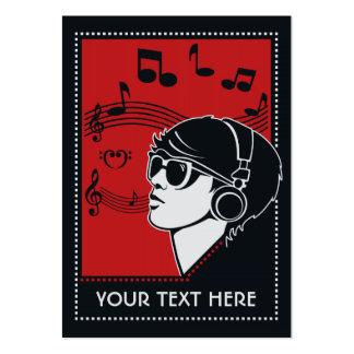 Custom Text Art Deco Music business cards