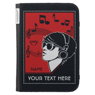 Custom Text Art Deco Music cases Cases For The Kindle