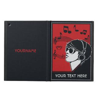 Custom Text Art Deco Music cases iPad Air Case