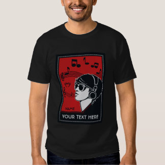 Custom Text Art Deco Music shirts & jackets