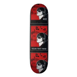 Custom Text Art Deco Music skateboards