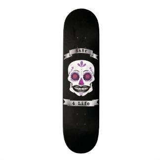 Custom Text Black Purple Candy Skull Deck