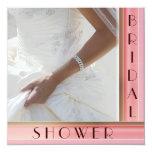 "Custom  Text Bridal Shower Invitations 5.25"" Square Invitation Card"