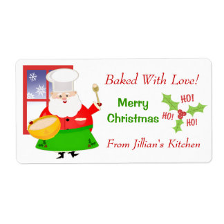 Custom Text Christmas Baking Sticker Labels
