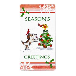 Custom Text Christmas Sticker / Labels