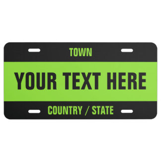 Custom Text & Color license plate
