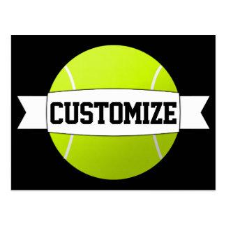 Custom Text & Color Tennis Ball Postcard