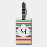 Custom Text - Colorful Candy Stripes Tags For Bags