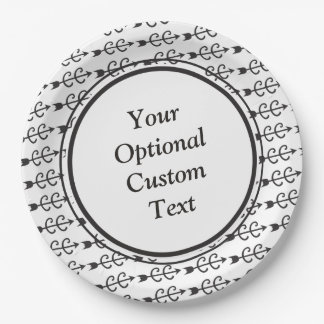 Custom Text Cross Country Running Paper Plate