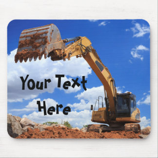 Custom Text Digger Tractor Mouse Pad