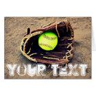 Custom Text Fastpitch Softball Greeting Card