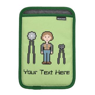 Custom Text Female Photographer iPad Mini Sleeve