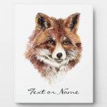 Custom Text Fox  Animal Nature Display Plaque