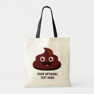 Custom Text Funny Poop totes 3 : joyful