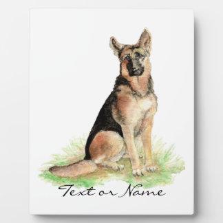 Custom Text German Shepherd Dog Pet Animal Nature Plaque