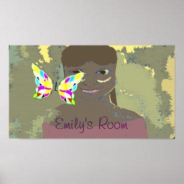 Art Themed custom text girl's room poster
