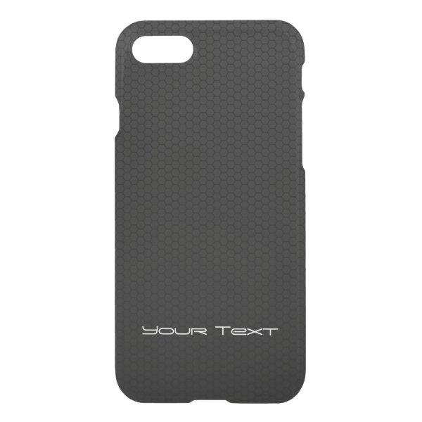 Custom Text Hexagonal Honeycomb Carbon Fiber iPhone 8/7 Case