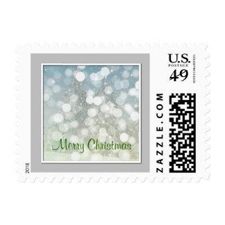 Custom Text Merry Christmas Snow Storm Postage