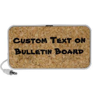 Custom Text on Bulletin Board Travelling Speakers