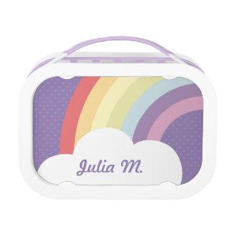 Custom Text on Rainbow (& Cloud!) Purple Lunch Box