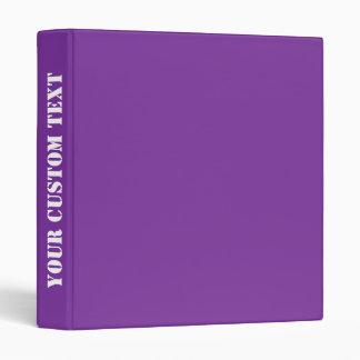 Custom Text Phuket Purple Royal Violet Indigo Binder