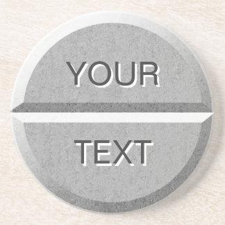 Custom Text Pill Tablet Coaster