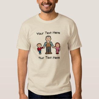 Custom Text Pixel Grandpa Shirt