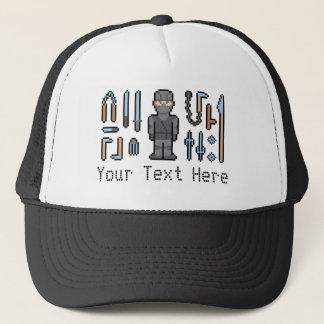 Custom Text Pixel Ninja Trucker Hat