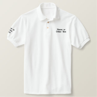 Custom Text Polo Embroidered - Create Your Own