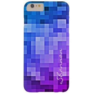 Custom Text Purple Blue Pixels iPhone 6 Plus case