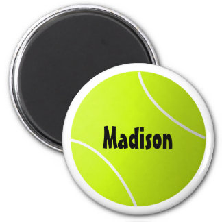 Custom Text Tennis Ball Round Sports Fridge Magnet