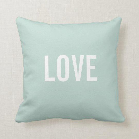Custom Text Throw Pillows Template   LOVE