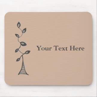 Custom Text Tree Mousepad