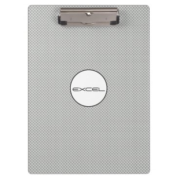 Beach Themed Custom Text White and Grey Carbon Fiber Material Clipboard