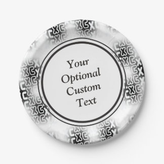 Custom Text XC Cross Country Running Paper Plate