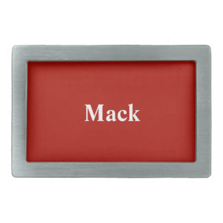 Custom Textile Red Stylish Color Matched Rectangular Belt Buckle